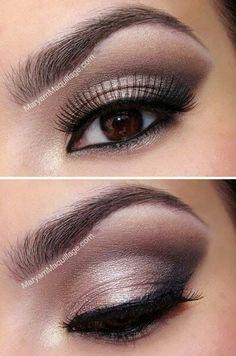 Wedding Ideas: Nice make-up for brown eyed girls.