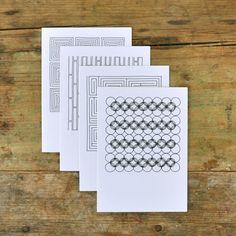 Pawling Print Geometric Cards