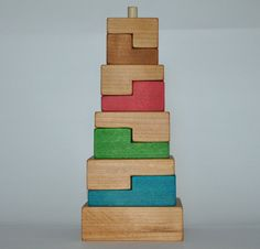Hey, I found this really awesome Etsy listing at https://www.etsy.com/listing/169589189/wooden-stacking-toy-squares-children