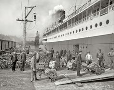 Great Lakes Michigan Steamer Ship 1905