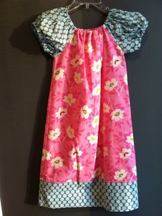 Boutique Girl Peasant Dress in nicey jane by PersonalizedforyouKY, $35.00