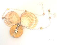 Collier pendentif donut en pierre d'Agate crazy lacée par Artecoeur