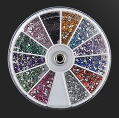 1Set Marvelous Popular 3D Acrylic Rhinestones Nail Art Wheel Decorations Fashion Tips Manicure Pattern Style 33 *** Details can be found by clicking on the image.