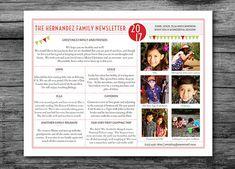 Christmas Family Newsletter  Good Moments  Christmas Newsletter