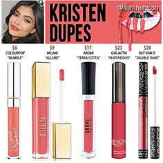 Kylie Jenner lip kit dupes for Kristen