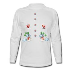 christmas snowmans Scene Father Christmas  Men's Long Sleeve T-Shirt  Standard weight long sleeve t-shirt for men, 100% cotton, Brand: Hanes     Details   christmas snowmans Scene Father Christmas and snowball fight with snowmen christmas tree snow and snowballs   $29.40
