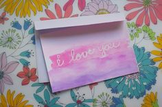 Original watercolor art postcard/card (your choice) on Etsy, $4.00
