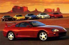 1994 Toyota Supra Turbo, Chevrolet Corvette LT1, Mazda RX-7, Porsche 968, Nissan 300ZX Twin Turbo, Mitsubishi 3000GT VR4 - Car & Driver Sept.