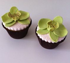 Moth orchid cupcakes