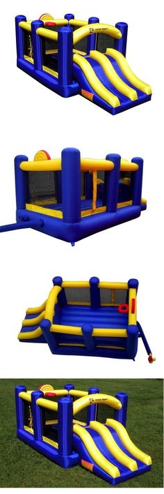 Inflatable Bouncers 145979: New Island Hopper Racsldslm Racing Slide And Slam Bounce House W Blower -> BUY IT NOW ONLY: $579.99 on eBay!