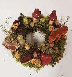Türkränze - Herbstlicher Kranz ♥ Natur pur mit Bambi - ein Designerstück von…