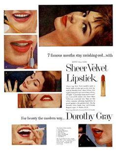 1950 Dorothy Gray Sheer Velvet Lipstick
