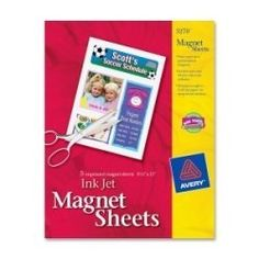 Avery Magnet Sheets, 8.5 x 11 Inches, White, 5 Pack (03270) by Avery Dennison, http://www.amazon.com/dp/B007YDK1KK/ref=cm_sw_r_pi_dp_qnfyrb1WF0AMR