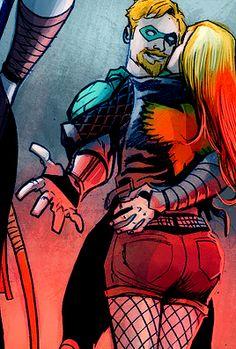 Ollie & Laurel in Green Arrow #5 - Juan Ferreyra