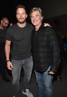 Chris Pratt and Kurt Russell attend the San Diego Comic-Con.