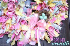 Cute Spring Rag Wreath Tutorial