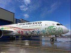 Aeromexico: le Dreamliner Quetzalcóatl viendra à Paris