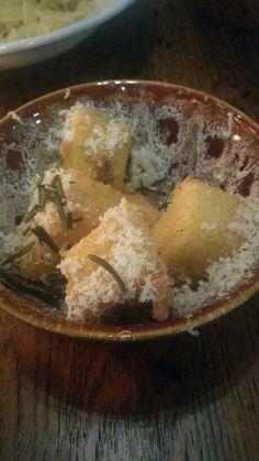 Polenta Chips at Jamie's Italian Stockholm. Wonderful!