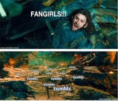 (Gif) Poor Kili! I'll save you from the evil fangirls