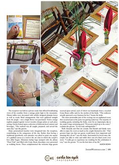 Bamboo chargers are a perfect compliment for creating a spectacular table scape