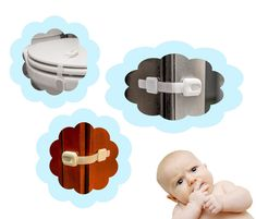 WONDERKID Top Quality Adjustable, Reusable Child Safety Locks - Latches to Baby Proof Cabinets, Doors & Appliances - Cool Kitchen Gifts Home Safety, Baby Safety, Baby Proof Cabinets, Bathroom Safety, Cool Lock, Child Safety Locks, Childproofing, Kitchen Gifts, Cool Kitchens