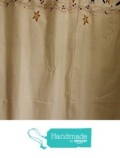 Primitive Black Crows and Stars Natural Cotton Shower Curtain from Primitive Country Loft House https://www.amazon.com/dp/B019AGVVRK/ref=hnd_sw_r_pi_awdo_Gf9kyb0GCB4BE #handmadeatamazon