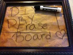 PIN THIS PROJECT! It's fun, cheap and easy - to make your own Pottery Barn inspired DIY dry-erase board. Happy Crafting!