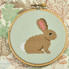 Bunny Rabbit Counted Cross Stitch Pattern PDF by Sewingseed, $4.00