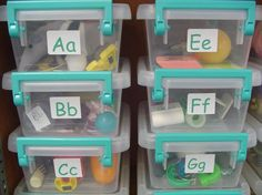 Alphabet Sound Boxes.... so awesome!