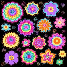 Hippie Flowers Cliparts, Stock Vector And Royalty Free Hippie ...