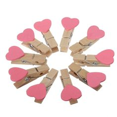 Office Binding Supplies Devoted 8-50pcs Colored Mini Love Heart Wooden Clothespin Office Supplies Craft Clips Diy Clothes Paper Peg Clothespin