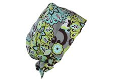 Surgical Scrub Hat Cap Lime Grey Teal Paisley Pixie ** Check out the image by visiting the link.