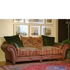 Broyhill Sofa Two tone sofa also like the way the off center window is balanced by the art and lamp H O M E I N S P I R A T I O N Pinterest Window Living rooms