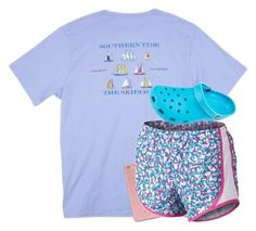 """""""yesterdays outfit"""" by aletphobia ❤ liked on Polyvore featuring Southern Tide, Tory Burch, NIKE and Crocs"""