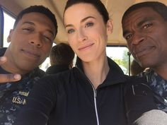 Working hard or hardly working? Bridget Regan, Jocko Sims, and Charles Parnell | The Last Ship
