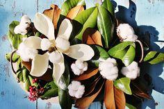 Magnolias, cotton bolls and decor at a festive Charleston feast | Gather