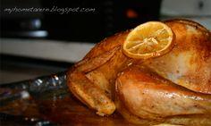 kurczak pieczony, nadziany