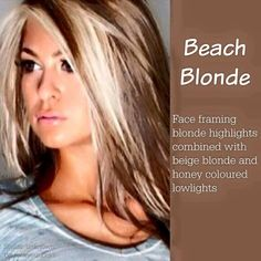Beach blonde - face framing blonde highlights with beige and honey blonde lowlights Beige Blonde, Brown Blonde Hair, Blonde Color, Fall Blonde, Blonde Honey, Blond Ombre, Blonde Brunette, Hair Color And Cut, New Hair Colors