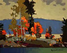 October 17 Lake of the Woods, by Robert Genn Canadian Painters, Canadian Artists, Abstract Landscape, Landscape Paintings, Wow Art, Klimt, Tree Art, Painting Inspiration, Art Images