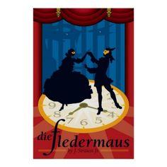 opera ppsters   Die Fledermaus, Opera Poster