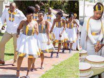 DKK African fashion Ankara kitenge African women dresses African prints A African Bridesmaid Dresses, African Wedding Attire, African Dresses For Women, African Print Dresses, African Attire, African Wear, African Fashion Dresses, African Women, Ghanaian Fashion