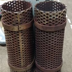 Replaced these used strainers with new one's at Power Plant. We improved the OEM design by using thicker support bars and better welds to increase MTBF (Mean Time between Failure).