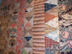 Very old and very beautiful Chintz quilts by Piece Play, via Flickr