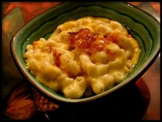 This is my absolute very favorite macaroni and cheese recipe and I have a large collection of m/c recipes. Adapted from Southern Living. I dont make this very often because I could literally eat the whole thing and lick the dish clean.