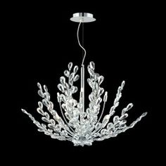 Contemporary Crystal Chandelier in polished chrome finish