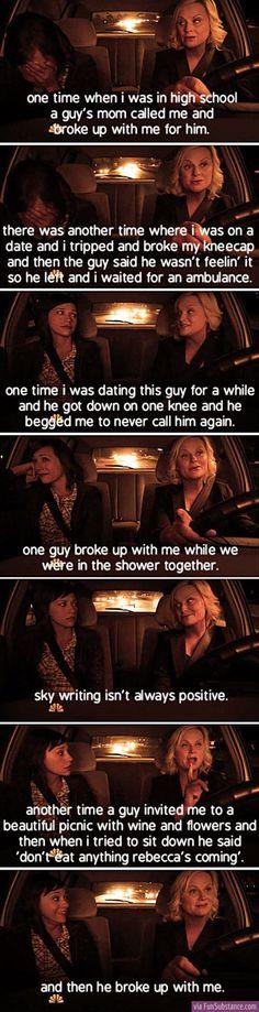 Leslie Knope's breakups - one of my favorite scenes ever