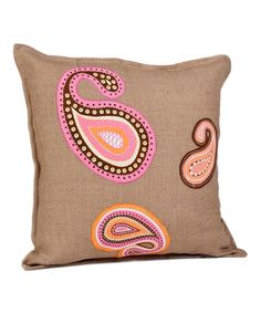 pink paisley pillow - D's room