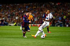 Lionel Messi of Barcelona passes by Jerome Boateng of Bayern to score his second goal during the first leg of UEFA Champions League semifinal match. Camp Nou, Psg, Manchester City, Jerome Boateng, Messi 2015, Munich, Messi Pictures, Messi Goals, Messi Vs