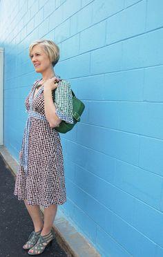 patterned dress by bcbg blue hue wonderland