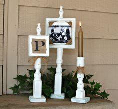 Monogram Frame Set in White by Shop24 on Etsy, $46.00
